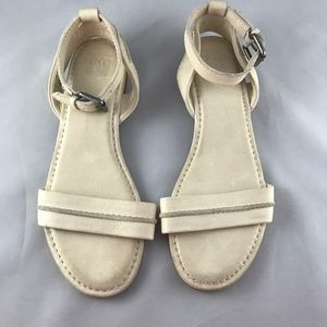 Frye Ivory Beige Leather Sandals Size 8